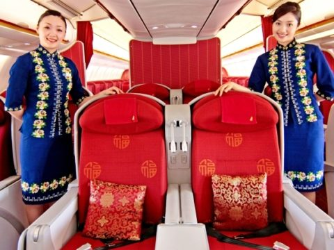 flight attendants hainan airways business class