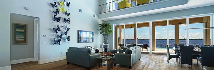 villa bequia living lounge mit blick auf den ozean